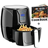 VPCOK Electric Air Fryer Oil Free, Hot Air Fryer Oven Recipe Included, 3.8