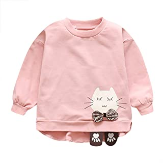 K-Youth Sudadera Niña Invierno Lindo Gato Ropa Bebe Niño Otoño Chandal Bebe Niña Camiseta de Manga Larga Infantil Unisex T...