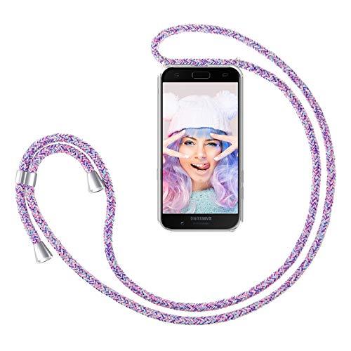 ZhinkArts Handykette kompatibel mit Samsung Galaxy A5 2017 (A520) - Smartphone Necklace Hülle mit Band - Handyhülle Hülle mit Kette zum umhängen in Unicorn