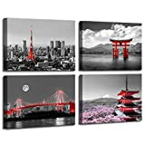 Black and White Canvas Wall Art for Bedroom...