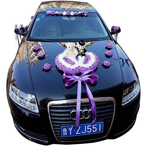 WCFD Bloem Boeket Auto Decoratie, Kunstbloemen Voor Bruiloft Decoratie Hart Gevormd, Bruiloft Auto Decoratie Kitation