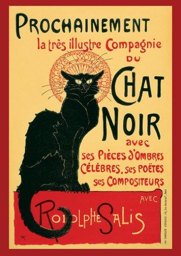 Poster / Kunstdruck, Motiv Le Chat Noir, Nachdruck, A4, 260 gsm