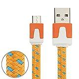 Micro USB Ladekabel für Smartphones Playstation 4 & Xbox One Controller Länge: 3m orange