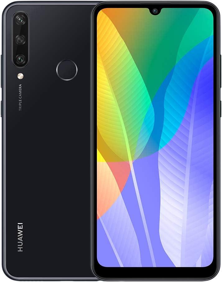 هاتف هواوي واي 6 بي بذاكرة داخلية سعة 64 جيجا وثنائي شرائح الاتصال بتقنية الجيل الرابع لون اسود ميدنايت ارابيك