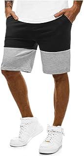 夏服 メンズ ボトムス Meilaifushi カッコイイ スプライス 純色 ショートパンツ ポッケトパッチワークビーチパンツ 調整ロープ ハーフパンツ 五分丈 春夏対応 アウトドアパンツ 通勤 普段着 男性用 ズボン