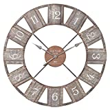 36' Galvanized Metal and Wood Windmill Clock