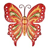 UPKOCH Mariposas decorativas de hierro para jardín, figuras de animales, figura de metal,...