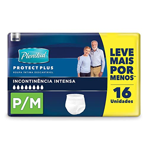 Plenitud Roupa Íntima Proctect Plus, 16 Unidades - P/M