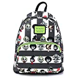 Loungefly Beetlejuice Chibi All Over Print Womens Double Strap Shoulder Bag Purse