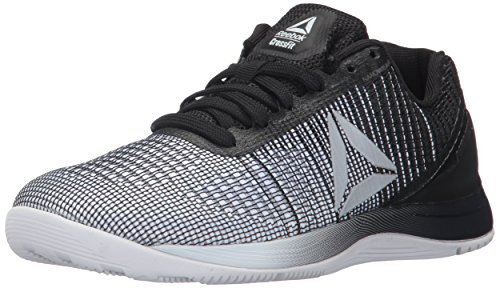 Reebok Women's CROSSFIT Nano 7.0 Track Shoe, White/Black/Silver Metallic, 8 M US