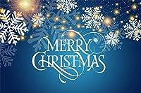新しい7x5ftビニールクリスマステーマ写真背景抽象的なゴールドライトファキュラスノーフレーク花びらメリークリスマスバナー新生児大人のポートレート写真背景クリスマスパーティーの装飾スタジオ小道具