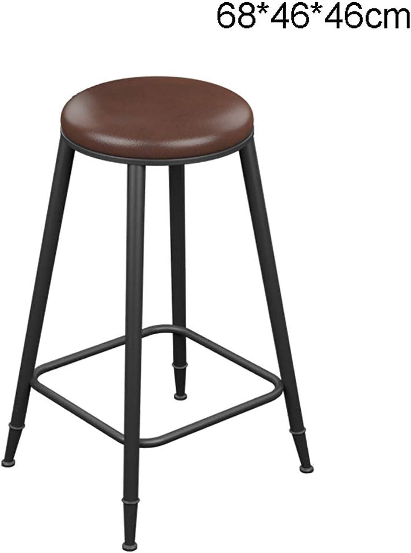 LYXPUZI Barhocker Iron Wood bar Stool bar Stool high Stool high Chair bar Stool bar Chair Front Chair Frühstücksschemel (Size   68  46  46cm)