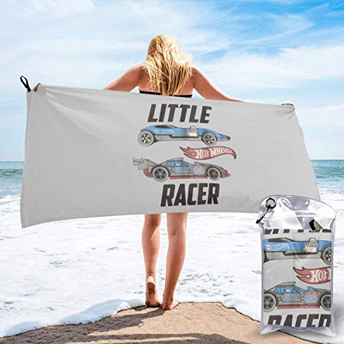 Ahdyr Beach towel Hot Wheels Microfiber Bath Towels Soft Super Absorbent and Fast Drying Multipurpose Use for Sports Travel Fitness Yoga