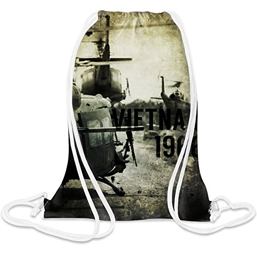Vietnam Hubschrauber - Vietnam Helicopter Custom Printed Drawstring Sack - 5 l - 100% Soft Polyester - A Stylish Bag For Everyday Activities - Custom Bags