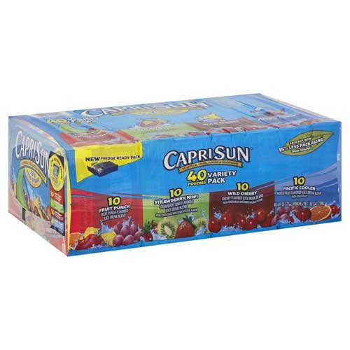 Caprisun Soft Drink Ready To Drink Variety Pack, 1 pouch -- 40 pouch per case.