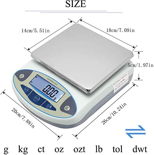 CGOLDENWALL High Precision Lab Scale Digital Analytical Electronic Balance Laboratory Lab Precision Scales Balance Jewelry Scales Gold Balance Kitchen Scales (5000g, 0.01g)…