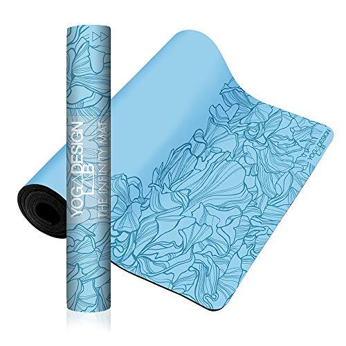 Yoga Design Lab The Infinity Mat Tappetino da Yoga   Ecologico, Morbido ed Antiscivolo per Un'aderenza impareggiabile   Include Una Tracolla! (Aadrika Aqua)