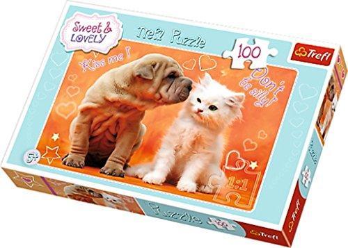 Trefl - 16264 - Puzzle - Sweet & Lovely - Câlins et de baisers - 100 Pièces