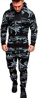 Zolulu Mens Sweatsuits 2 Piece Hoodie Tracksuit Sets Casual Comfy Camo Jogging Suits for Men Sports Suit Activewear
