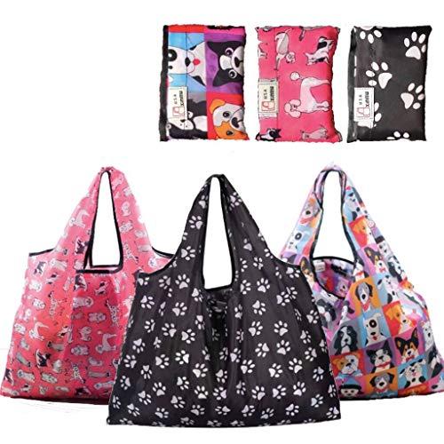 Einkaufstaschen, wiederverwendbar, faltbar, 3 Stück, XXL, 22,7 kg, max. #1