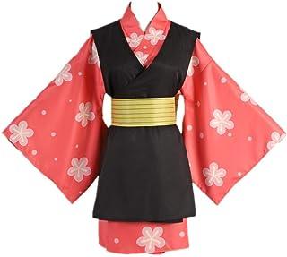 4 UNIDS/Conjunto Anime Demon Slayer Makomo Halloween Carnaval Traje de Cosplay Traje Diario Casual Tradición Japonesa Kimono Trajes de Vestir