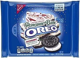 Oreo Seasonal Peppermint Bark Chocolate Sandwich Cookies, 10.7 oz. (LIMITED EDITION)(4 PACK)