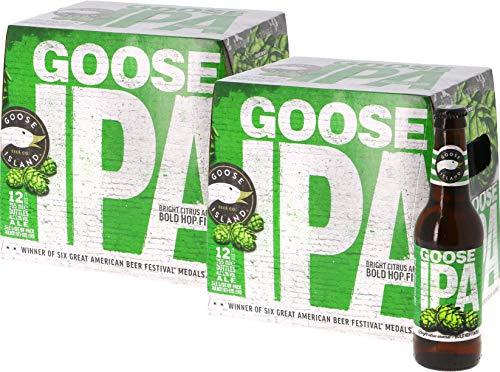 24-er Paket | Bierpaket | Internationales Bier | Craft Beer | Großpaket zum Sparpreis (Goose Island IPA)