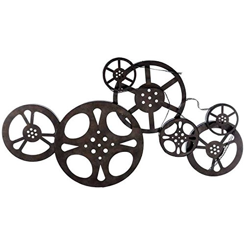 Toysdone Antique Bronze Metal Movie Reel Wall Art