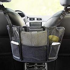 Car Net Pocket Handbag Holder, Seat Back Net Bag, Handbag Holder for Car, Driver Storage Netting Pouch, Handbag Holder Attaches to Headrest
