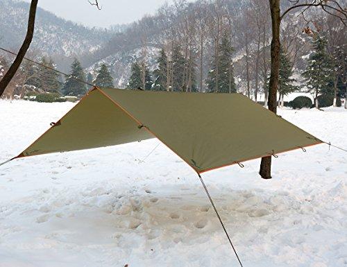 Product Image 1: FREE SOLDIER Waterproof Portable Tarp Multifunctional Outdoor Camping Traveling Awning Backpacking Tarp Shelter Rain Tarp (Brown)