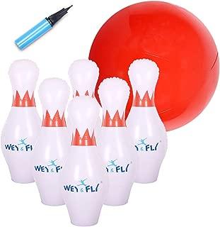 WEY&FLY Giant Inflatable Bowling Game Set - Jumbo Size - 6 27