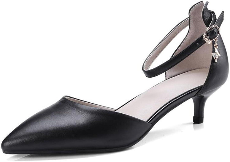 XUERUI Ms High Heels Stilettos Sandals Jobs Beautiful Young Fashion Steady Comfortable 4cm Heel (color   1, Size   EU37 UK4.5-5 CN37)