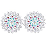FENICAL Body Jewelry Sticker Crystal Rhinestone Acrylic Nipple Breast Pasties Decals for Art Carnival Party Lady Body Decor
