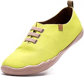 UIN Mens Light Yellow Pure Color Casual Canvas Shoe Yellow
