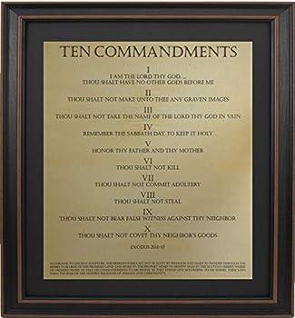 Framed Ten Commandments   Religious Gifts