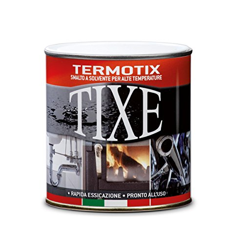 TIXE 409514 Vernici per Alte Temperature, Nero, 500 ml
