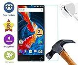 case & glass 2 Unidades de Protectores de Pantalla Premium 2.5D Cristal Vidrio Templado 9H para Ulefone Mix S