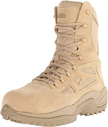 Reebok Work Men's Rapid Response RB8894 Safety Boot,Tan,8.5 M US