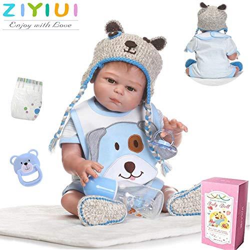 ZIYIUI Muñecas Bebé Reborn 20 Pulgadas 50 cm Realista Ojos Azules Renacer Bebé la Muñeca Cuerpo Entero de Silicona de Vinilo Recién Nacido Hecho a Mano Niño Magnético Juguete