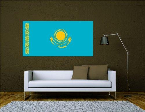 Wandtattoo Sticker Fahne Flagge Aufkleber Kasachstan 120 x 60cm