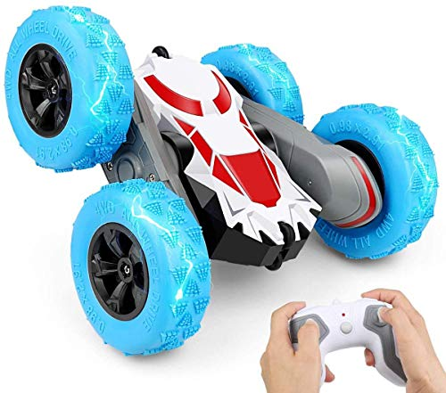 Remote Control Car, 4WD 2.4GHz RC Cars Stunt Car Toy, RC Cars with Double Sided Rotating 360 Degree Flips, Kids Xmas Toy Cars for Boys/Girls ( Batteries Included )