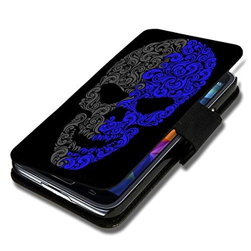 wicostar Book Style Flip Handy Tasche Hülle Schutz Hülle Schale Motiv Etui für Huawei Ascend Y550 - Flip A49 Design12