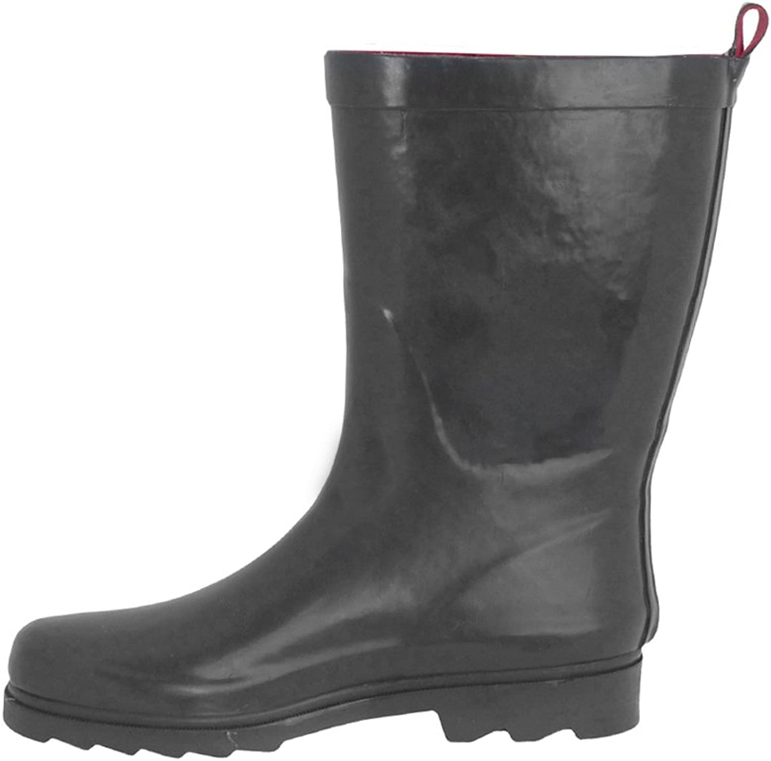 Capelli New York Ladies Shiny Short Rubber Rain Boot bluee