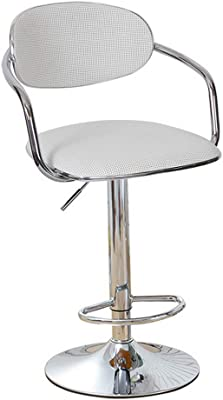 YUWJ 360° Rotating Bar Stool,Counter Height Bar Stools Deep Seat, Rattan Weaving