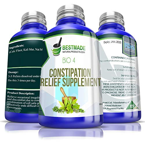 Natural Constipation Relief for Occasional Irregularity|Effective for Hard Stools & Bloating| No Cramping |Gentle Enough for the Whole Family|Supports Colon Function|May Help with Symptoms of IBS Bio4