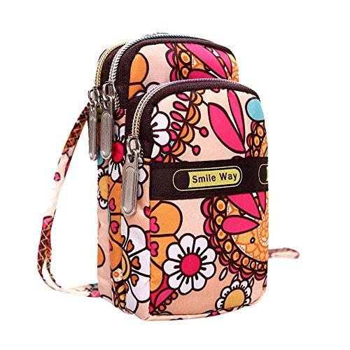 TEBAISE Phone Tasche Armtasche Modische Sonnenblume Muster Zipper Sport-Armband für Smartphone Armbänder Schultertasche Umhängetasche als handytasche Geldbörse für Damen Mädchen