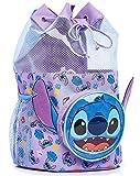 Disney Bolsa de Playa de Lilo y Stitch, Bolsa Juguetes Playa, Mochila Natacion Transparente, Bolsos Playa para Niños y Niñas, Mochilas Saco Infantiles