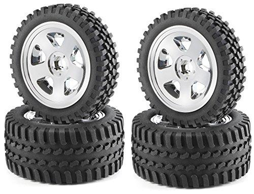 Carson 500900028–1 : 10 pneus/Jantes Kit All Terrain, modélisme Accessoires, Chrome
