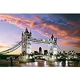 DIY 5D Kit de pintura de diamante por número El famoso Puente de Londres 40x60cm Sin marco Diamante cuadrado Arte y manualidades para niños adultos Pintura de bricolaje Decoración de pared