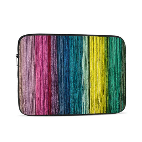 Macbook Cover Cord Rope Fiber Close Up Colorful Macbook Air Computer Case Multi-Color & Size Choices10/12/13/15/17 Inch Computer Tablet Briefcase Carrying Bag